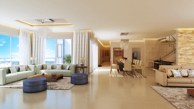 Large Living Spaces The True Mark Of A Modern Luxury